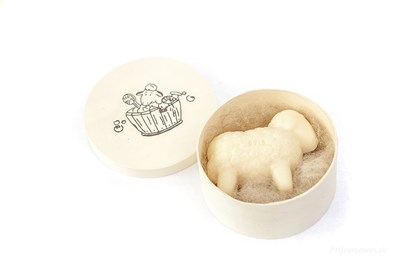 Obrázok pre výrobcu Mydlo ovečka v okrúhlej krabičke