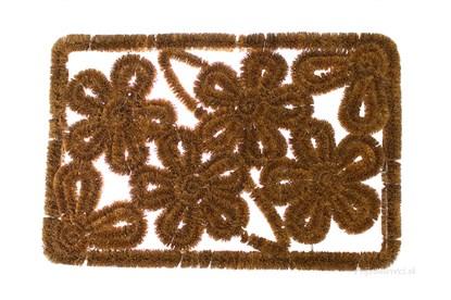 Obrázok pre výrobcu Kokosová rohožka - s motívom kvetov