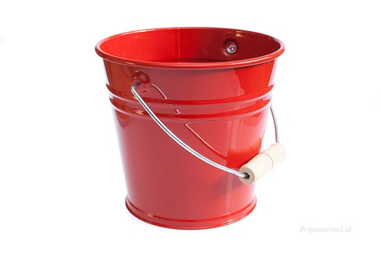 Detské kovové vedierko - červené