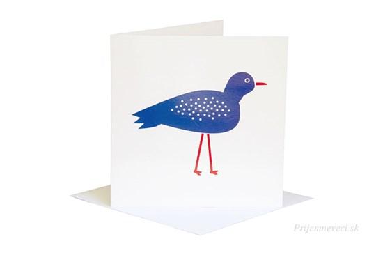 Blahoželanie - modrý vták