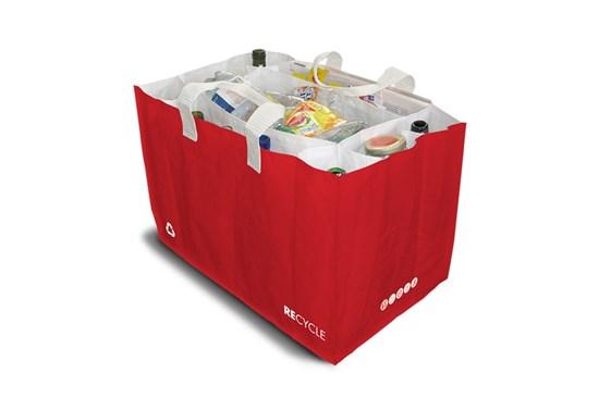 Taška na triedenie odpadu- červená Sakatri