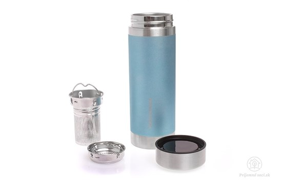 Termoplechovka YD na čaj - 350ml -modrá