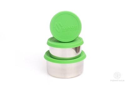 Obrázok pre výrobcu Nerezové dózy na jedlo - zelené (3ks)