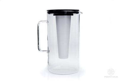 Obrázok pre výrobcu Sklenený džbán s vložkou na ľad - 2,5l