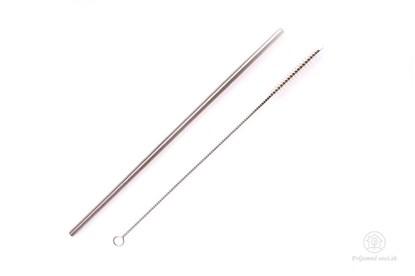 Obrázok pre výrobcu PV-Antikórová slamka rovná s kefkou- na smoothie
