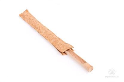 Obrázok pre výrobcu Sklenená slamka s dreveným a korkovým obalom