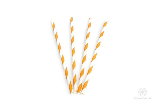 Papierová slamka - oranžová (600 ks)
