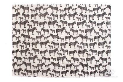 Obrázok pre výrobcu Vegan voskovaný obrúsok extra veľký -zebra