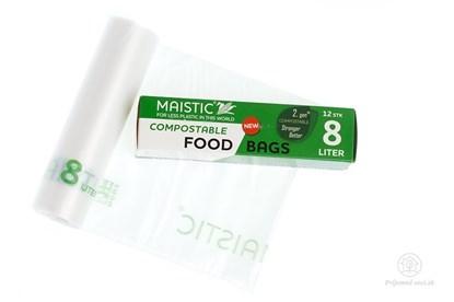 Obrázok pre výrobcu Kompostovateľné vrecká na potraviny 8l (12ks)