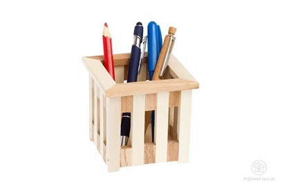 Obrázok pre výrobcu Mriežkovaný drevený stojan na perá
