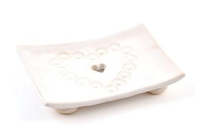 Obrázok pre výrobcu Keramická mydelnička - srdiečko
