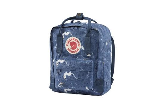 Batoh Kanken Art Mini Fjällräven - strakatý modrý
