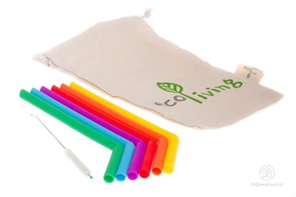 Obrázok pre výrobcu Silikónové slamky s kefkou - 6ks