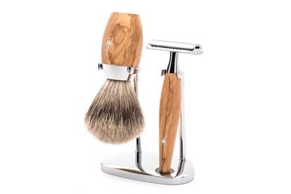 Obrázok pre výrobcu Set na holenie - jazvec a olivové drevo