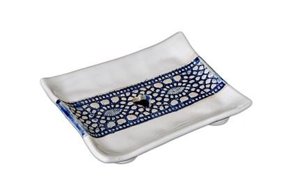 Obrázok pre výrobcu Keramická mydelnička - modrá čipka