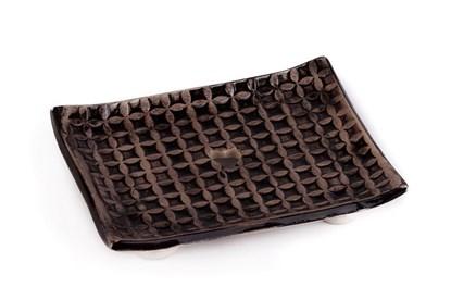 Obrázok pre výrobcu Keramická mydelnička - tmavohnedá