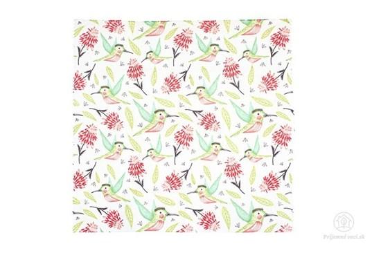 Vegan voskovaný obrúsok stredný - kolibrík