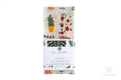 Obrázok pre výrobcu Vegan voskovaný obrúsok malý - záhrada