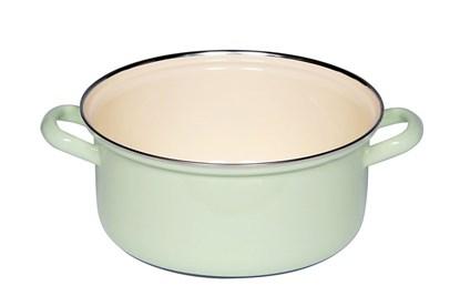 Obrázok pre výrobcu Smaltovaný hrniec nízky - 3L - zelený