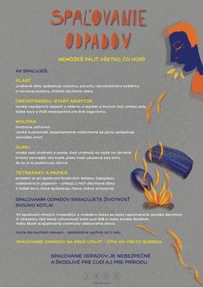 Obrázok pre výrobcu Edukačný plagát malý (A3) - spaľovanie