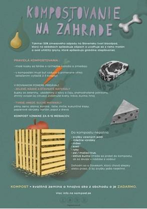Obrázok pre výrobcu Edukačný plagát malý (A3) - kompostovanie
