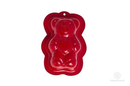 Obrázok pre výrobcu Kovová formička do piesku - červený medveď