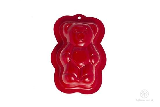 Kovová formička do piesku - červený medveď