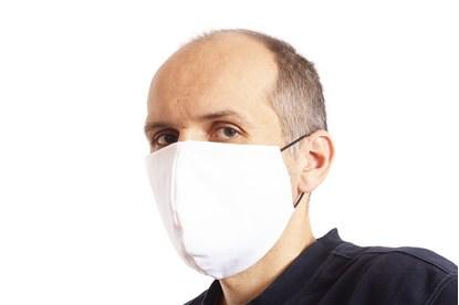 rúško na tvár textilné - koronavírus