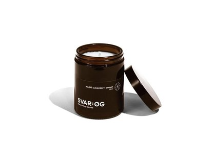 Obrázok pre výrobcu Sójová sviečka SVAR:ØG - levanduľa a citrón