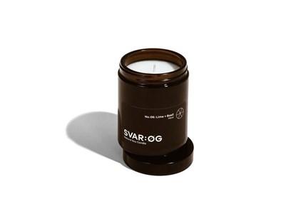 Obrázok pre výrobcu Sójová sviečka SVAR:ØG - limetka a bazalka