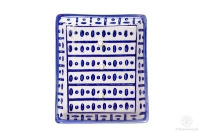 Obrázok pre výrobcu Keramická mydelnička obdĺžniková - bodky