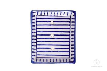 Obrázok pre výrobcu Keramická mydelnička obdĺžniková - prúžky