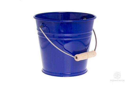 Kovové vedierko - modré