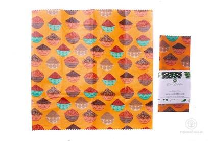 Obrázok pre výrobcu Vegan voskovaný obrúsok stredný -korenie
