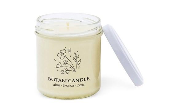 Sójová sviečka Botanicandle - malá - aloe, škorica, lotos
