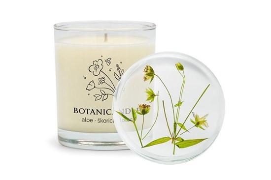 Sójová sviečka Botanicandle - veľká - aloe, škorica, lotos