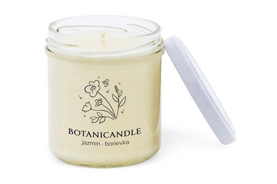 Sójová sviečka Botanicandle - malá - jazmín, borievka