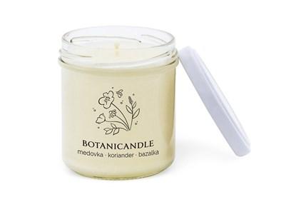 Obrázok pre výrobcu Sójová sviečka Botanicandle - malá - medovka, koriander, bazalka