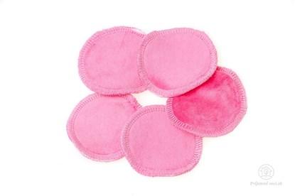 Obrázok pre výrobcu Látkové odličovacie tampóny - ružové - 5ks