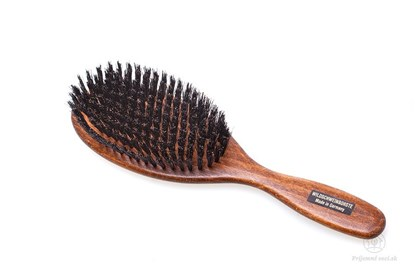 Obrázok pre výrobcu Kefa na vlasy - tmavé bukové drevo a diviačie štetiny