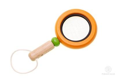 Obrázok pre výrobcu Drevená lupa pre deti - oranžová