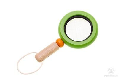 Obrázok pre výrobcu Drevená lupa pre deti - zelená